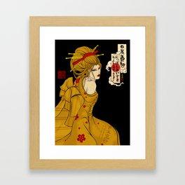 Gold Geisha by Nipponaisuki Framed Art Print