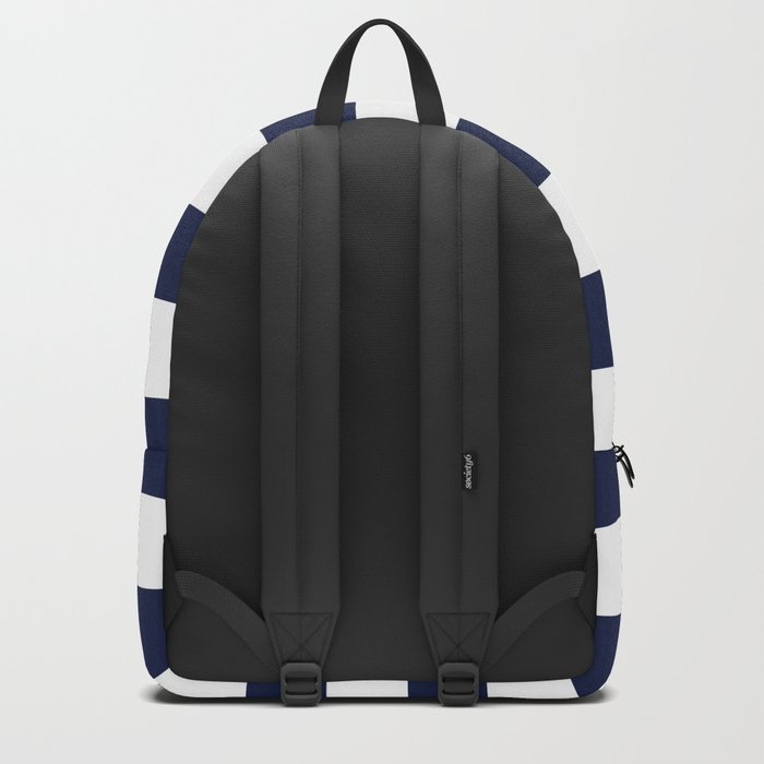 Simply Stripes Nautical Navy on White Backpack