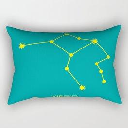 VIRGO (YELLOW-TEAL STAR SIGN) Rectangular Pillow