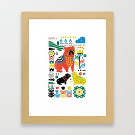 Scandinavian English Bulldog Framed Art Print