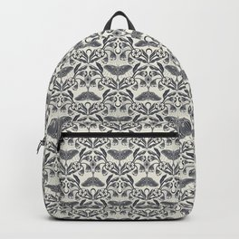 Luna Moth and Moonflowers Pattern Backpack