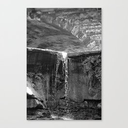 Waterfall Archway Canvas Print