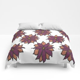 Holiday Two-Toned Flowers Comforters