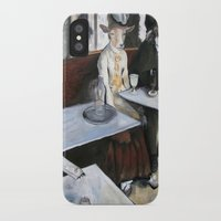 degas iPhone & iPod Cases featuring Degas' Goat Drinking Absinthe  by MollyK