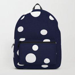 Polka Dot Party, Navy Backpack