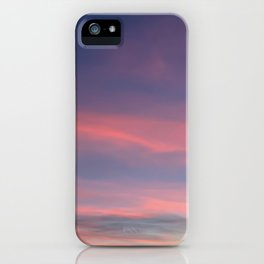 Pink sky in evening iPhone Case