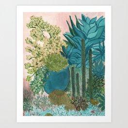 Silver Garden Art Print