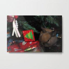 Merry Bunny! Metal Print