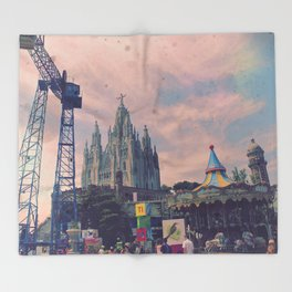 Carnivals and Colors and Castles and Churches Throw Blanket