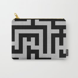 Black and Gray Labyrinth Carry-All Pouch