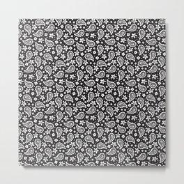 Black and white paisley Metal Print