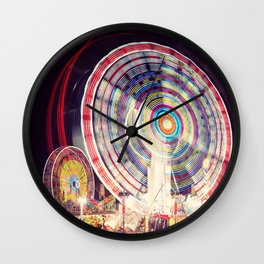 Blur of the Carnival Wall Clock