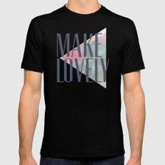 Make Lovely // Leaf MEDIUM Black Mens Fitted Tee