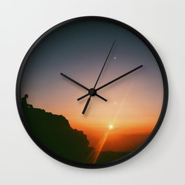 On top of the world Wall Clock
