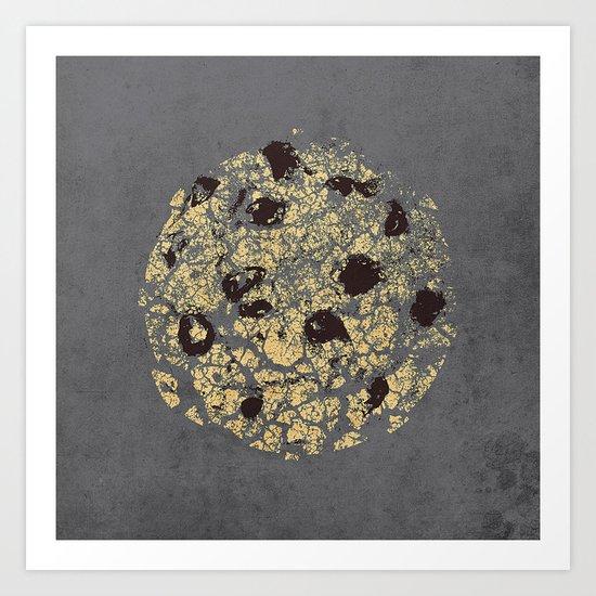 crumbling cookie Art Print