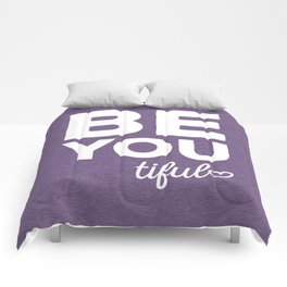 Be-You-Tiful Positive Quote Comforters