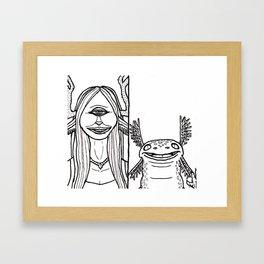 B&W Weirdos 04 Framed Art Print