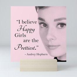 Happy Girls - Pink - With Audrey Mini Art Print