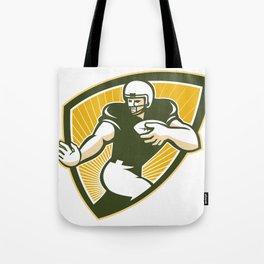 American Football Running Back Shield Tote Bag