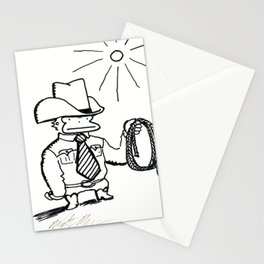 Cowboy Ape with Giant Tie Stationery Cards