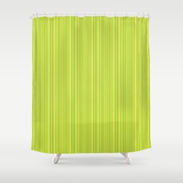 Lime Green Pinstripe Shower Curtain