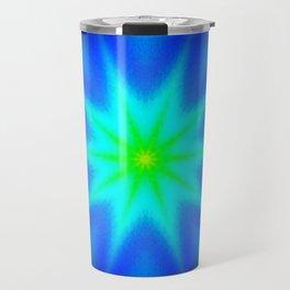 Star Bright Blue & green Travel Mug
