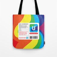 fairytale Tote Bags featuring Fairytale Transfusion by John Tibbott