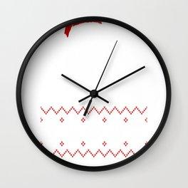 Dog Pawsmas Meowy Christmas Wall Clock
