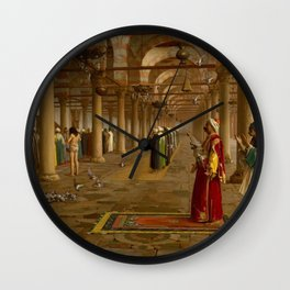 Islamic Masterpiece 'Prayer in the Mosque' by Jéan Leon Gerome Wall Clock