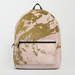 Champagne Blush Marble Backpack