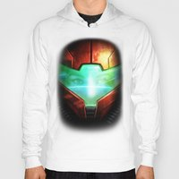 metroid Hoodies featuring Metroid by Joe Roberts