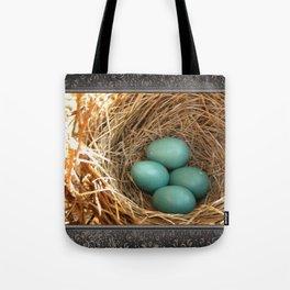 Four American Robin Eggs Tote Bag