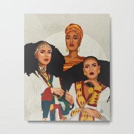 African Trio Metal Print