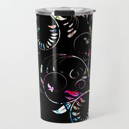 Retro Elegance: Classic Graphic Design Travel Mug