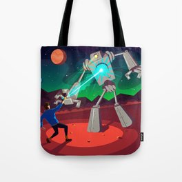 Robot Planet Tote Bag