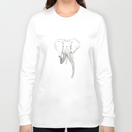 Conjoined Elephant Long Sleeve T-shirt