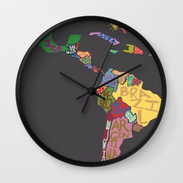 Map. Mapa. Carte. Dos! Wall Clock