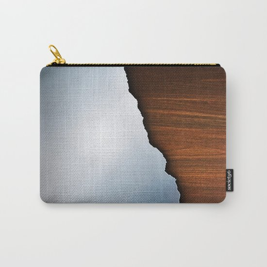 Wooden Brushed Metal Carry-All Pouch