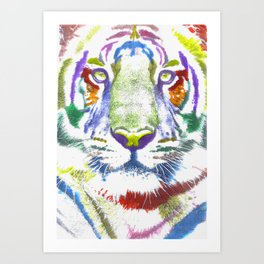 ROAR (tiger color version) Art Print