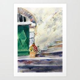 Weathered Stairway Art Print