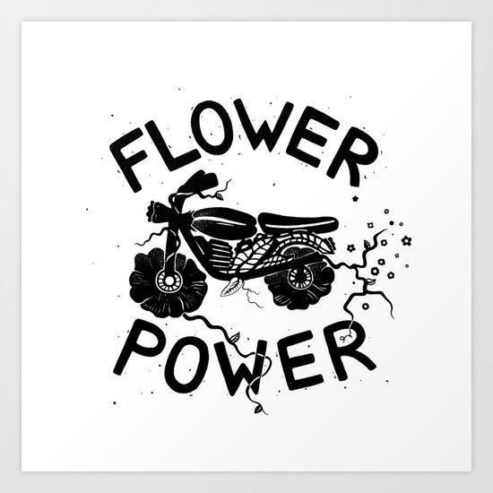 Floral Fuel Art Print