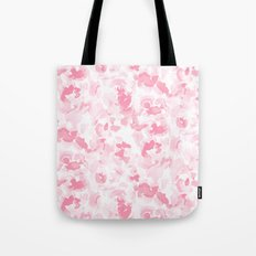 Abstract Flora Millennial Pink Tote Bag