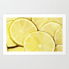 Lime Slices Art Print