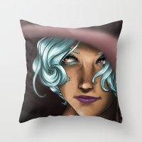 hat Throw Pillows featuring Hat by Viktor Macháček