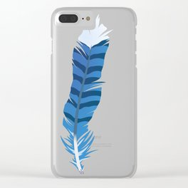 Blue Jay, wing feather Clear iPhone Case