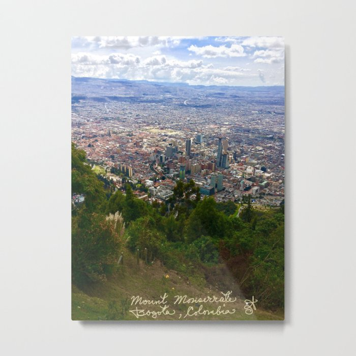 Mount Monserrate, with a 10,000 ft view of Bogota Colombia Metal Print