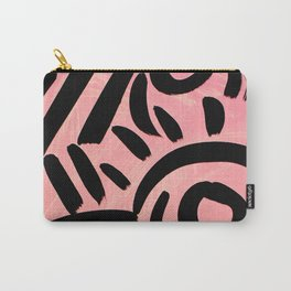 Pink Tribal Graffiti Carry-All Pouch