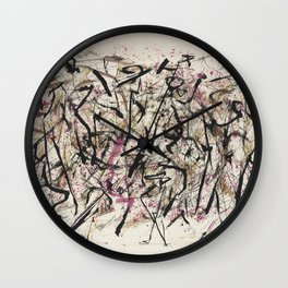 Jackson Pollock Untitled Wall Clock