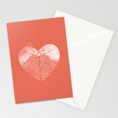Love birds sitting on a tree Stationery Cards