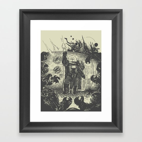 Space slugs die easy Framed Art Print